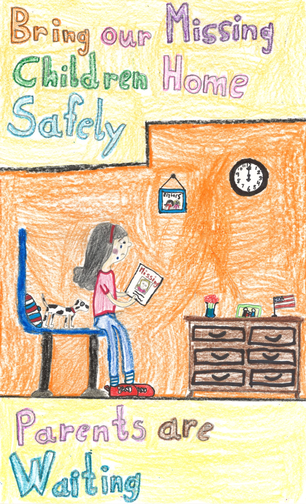 2017 Missing Children's Poster Contest Winner by Shelby Steel