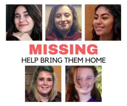 Pictures of missing children from Nebraska