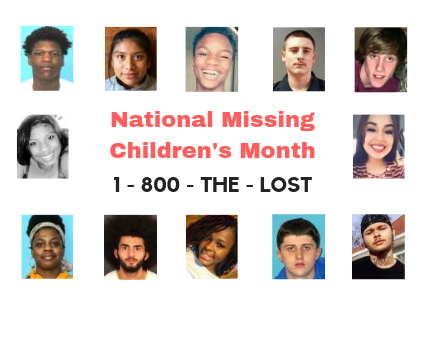 National Missing Children's Month Banner