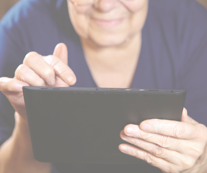 Image of Senior Woman on Tablet