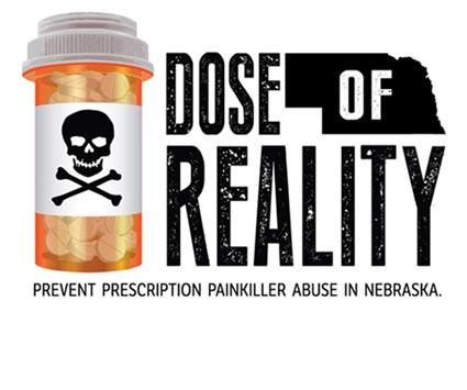 Dose of Reality logo. Prevent prescription painkiller abuse in Nebraska.