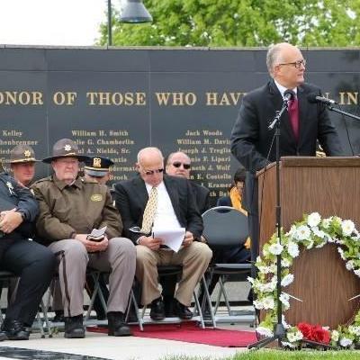 Nebraska Attorney General Doug Peterson at 2015 Law Enforcement Memorial Day Ceremony